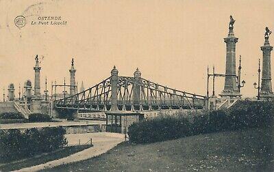 CPA - Belgique - Oostende - Ostende - Le pont Léopold