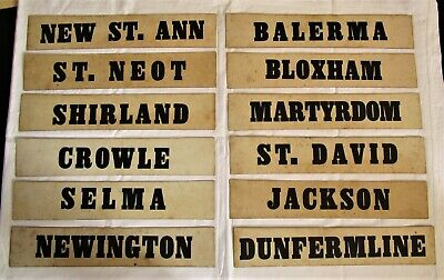 Vintage Double Sided Cards Showing Hymn Tunes. Towns / City Names Price per sign