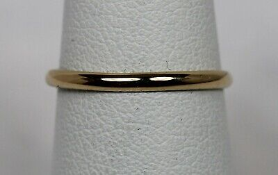 1940s Jewelry Styles and History Vintage 1940s-1950s Estate 14K Yellow Gold 1.75mm Band/Ring Sz 6 (1.12g) $75.00 AT vintagedancer.com