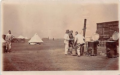 POSTCARD   MILITARY  ARMY  CAMP   Cookhouse  Location  Unknown