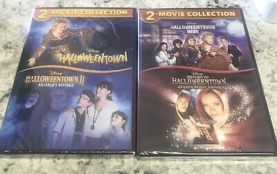 HALLOWEENTOWN 1,2,3,4 DVD COMPLETE COLLECTION SET NEW! II, RETURN TO HIGH DISNEY