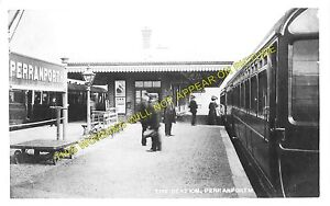 Perranporth Railway Station Photo. Goonhavern - Mithian. Newquay to St. Agnes