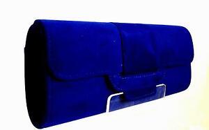 Royal Blue Suede Bag