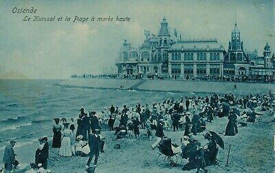 CPA - Belgique - Oostende - Ostende - Le Kursaal et la plage à marée haute