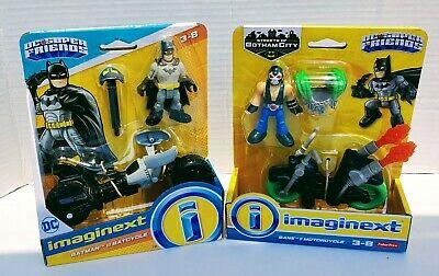 DC Imaginext BatMan & BatCycle (BatPod) and Bane & Motorcycle - New/Unopened