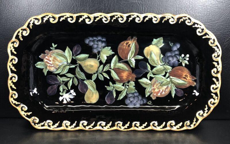 Certified International Pompeii Rectangular Serving Plate Raymond Waites Fruit