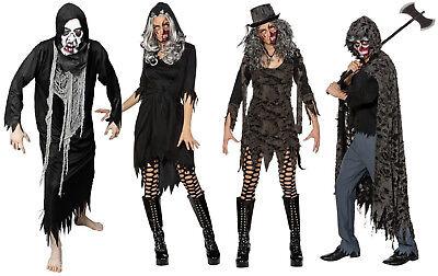 Hexen Cape (Umhang mit Kaputze Cape Fetzen Kostüm Kleid Dracula Vampir Zombie Hexe Hexen Hut)
