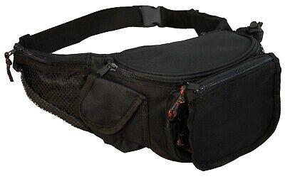 7 Zipper Fanny Pack With Bottle Holder, Cell Pouch, Waist Belt, Travel, Hiking ()