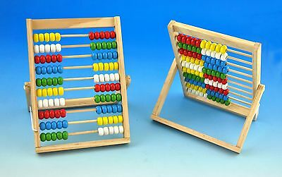 ~Rechenschieber~Zählrahmen~100~Abacus~Holzzählrahmen~Rechenhilfe~Abakus~neu~