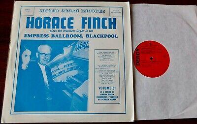 HORACE FINCH CINEMA ORGAN ENCORES VOL 61 EMPRESS BLACKPOOL LP DEROY (1974) NM