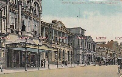 Australia Postcard. Brisbane. Queen St. Post & Telegraph Offices. (Queens St Brisbane)