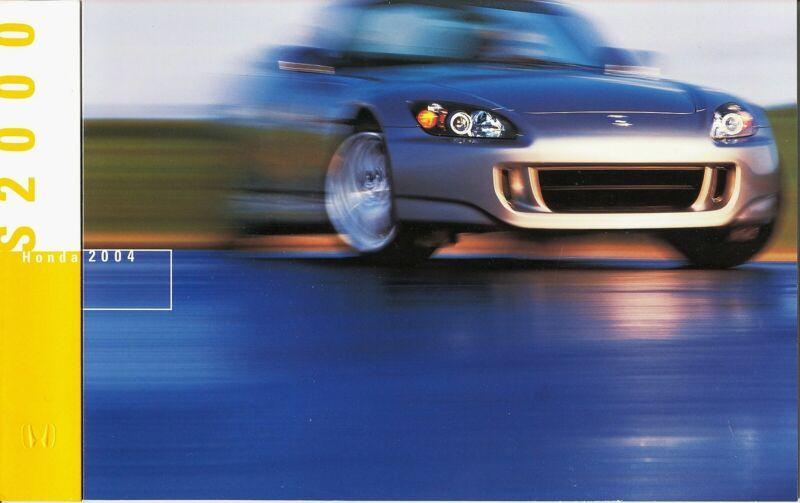 2004 Honda S2000 Dealer Sales Brochure