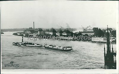 1938 Wwii German Fortifications Along The Rhine Original News Service Photo