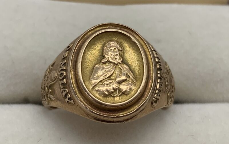 Vintage Chevalier Demolay 10K Gold Masonic Ring