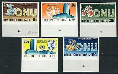 Togo - 20 Jahre Vereinte Nationen Satz postfrisch geschnitten 1965 Mi. 489-493 B