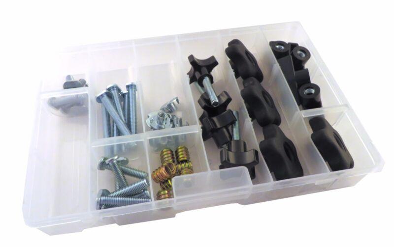 48 Piece Jig T Track Hardware Kit 1/4 20 Knobs, T Bolts, Inserts 48PJHK-1/4