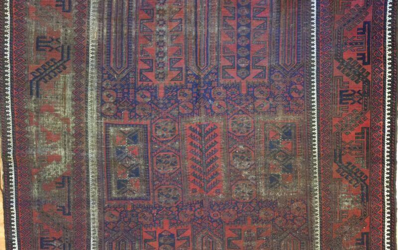 Terrific Timuri - 1900s Antique Balouch Rug - Tribal Carpet - 6.9 X 13.6 Ft.