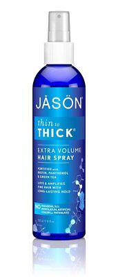 JASON Natural Cosmetics Thin-to-Thick Hair Spray, 8 Ounces ~ Lot of 2