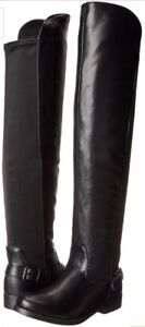 Black Leather Boots - Women's Size 8
