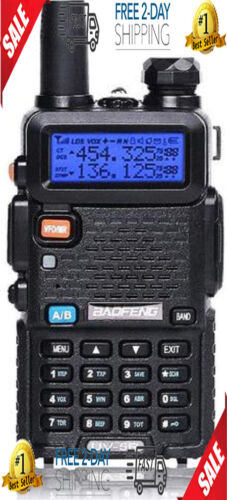 Police Fire Radio Two Way Scanner Transceiver Handheld Portable F-Antenna New