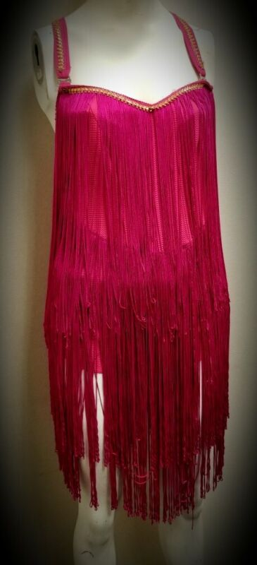Hot Pink Dancewear With Fringe - 2 pieces