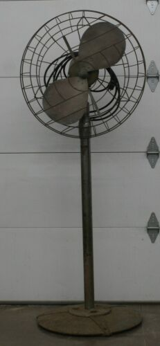 Vintage Hunter Century Air Circulator Pedestal Fan Cast Iron Industrial Art Deco