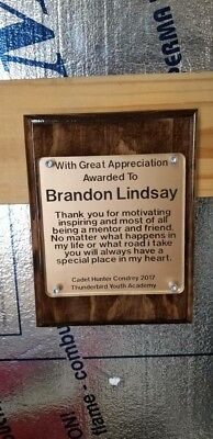 Laser Engraved acrylic ,Wood Plaque 8 x 10,pet memorial,personalized award Laser Engraved Award Plaque