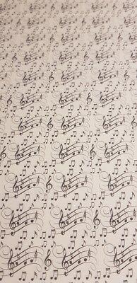 Geschenkpapier Motiv groß swing Noten ()