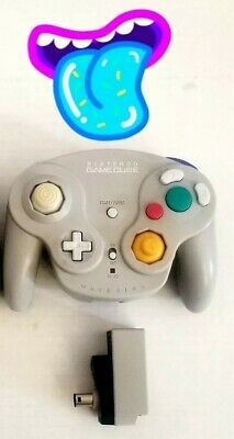 🕹️ Nintendo GameCube Wavebird Wireless Controller & Receiver Authentic OEM L👀K Nintendo Wavebird Gamecube Controller