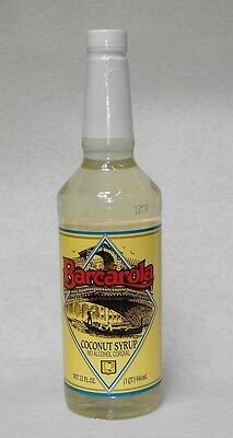 Gourmet Coconut Syrup 32oz. Barcarola Coffee Drink And Italian Soda Flavor