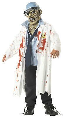 Bloody Freaky Scary Zombie Lab Tech W/ Mask Costume - Scary Zombies Costumes