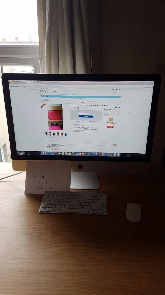 iMac 27 inch Retina Late 2014, 16GB ram, 1TB fusion drive with 128GB SSDin Barry, Vale of GlamorganGumtree - This is my iMac for sale great condition. 27 inch Retina display. 3.5Ghz quad core i5 processor. R9 290X graphics with 2GB ram. Wireless keyboard and mouse and power cable. Upgraded 1 TB fusion drive with the 128GB SSD and also 16GB ram better than...