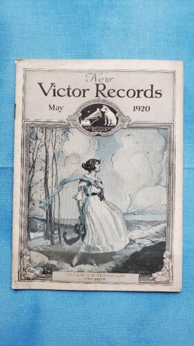 Original Victor Phonograph Record Catalog - May, 1920