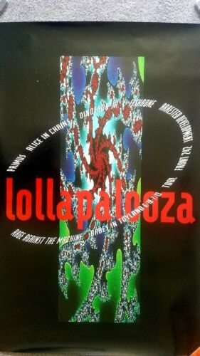 Alice In Clains Rare 1993 Lollapalooza Promo Poster
