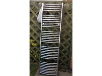 Very Tall Curved Chrome Ladder Towel Radiator, used