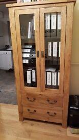 Two Oak Cabinets