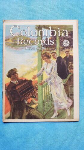 Original Columbia Graphophone Phonograph Record Catalog - June, 1920