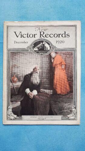 Original Victor Phonograph Record Catalog - December, 1920