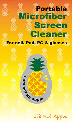 Portable Microfiber Cleaner For Phone,Tablets,Glasses & more - 'Pineapple'