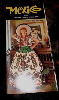 Vintage 1963-64 MEXICO Color Travel Brochure