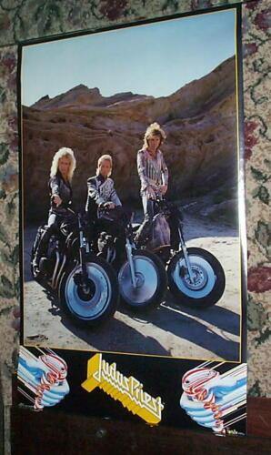 JUDAS PRIEST Group Desert Motorcycles Vintage POSTER