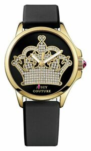Juicy Couture Ladies' Jetsetter Crown Black Dial Watch