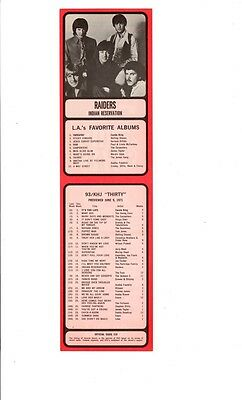 SCARCE PAUL REVERE AND THE RAIDERS 1971 Radio Survey w/Photo 93 KHJ BOSS 30 L.A.