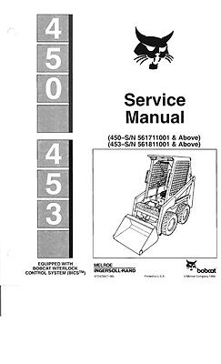 BOBCAT 450 & 453 SERVICE MANUAL REPRINTED COMB BOUND