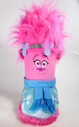 "VTG Dreamworks Poppy Troll 15"" holiday tote treat bag door stop toy storage RARE"
