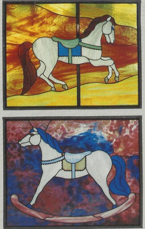 CAROUSEL & ROCKING  HORSE Stained Glass Supplies NEW Pattern CKE Publications