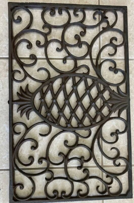 Rectangular Floor Grate Vent Solid Cast Iron Vintage Old Style, LARGE