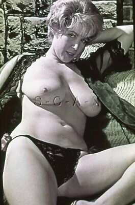Vintage Nude 50s-60s 35mm Slide / Negative- Super Endowed Blond- Bikini Panties