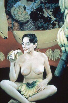 Vintage Nude 1950s-60s 35mm Slide / Negative- Super Endowed Woman- Bananas #2