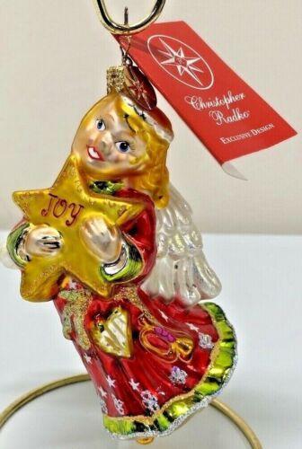 Rare 2004 Christopher Radko Exclusive Design Joy To The World Angel Ornament